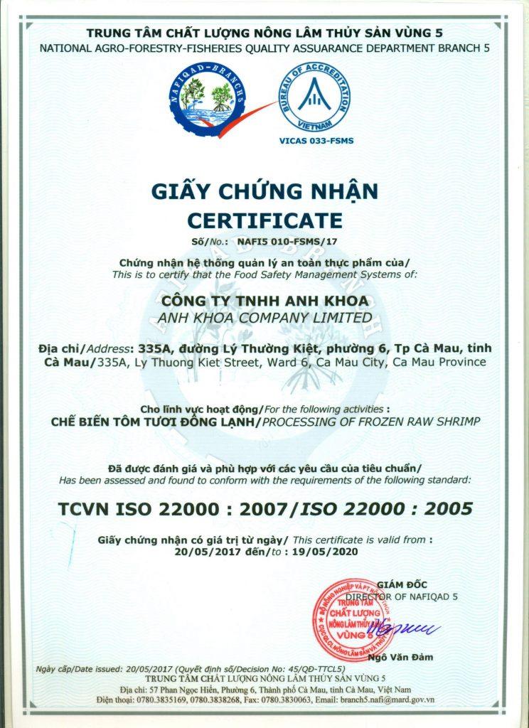 TCVN ISO 220000: 2007/ISO 22000:2005